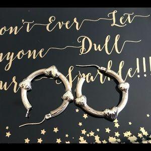 10k Gold Heart hoop style earrings